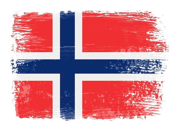 Grunge norwegen flagge