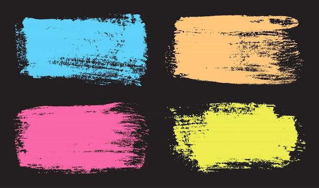 Grunge pinselstrich banner