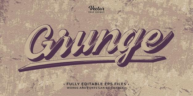 Grunge retro-vintage-stil texteffekt bearbeitbare eps cc