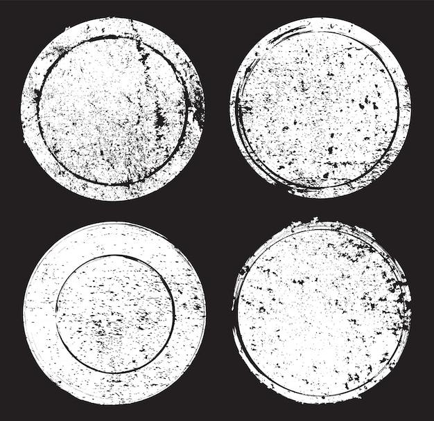 Grunge runde briefmarken