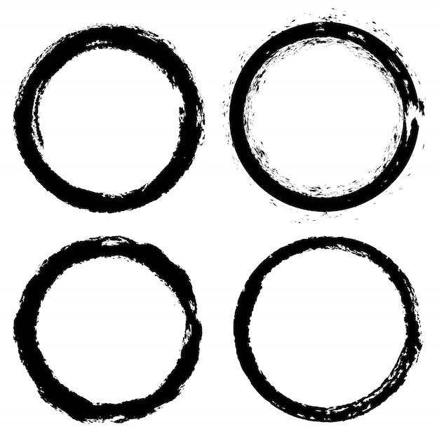 Grunge runde formen
