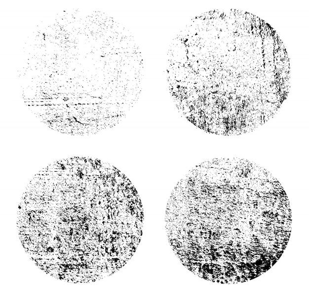 Grunge runde texturen