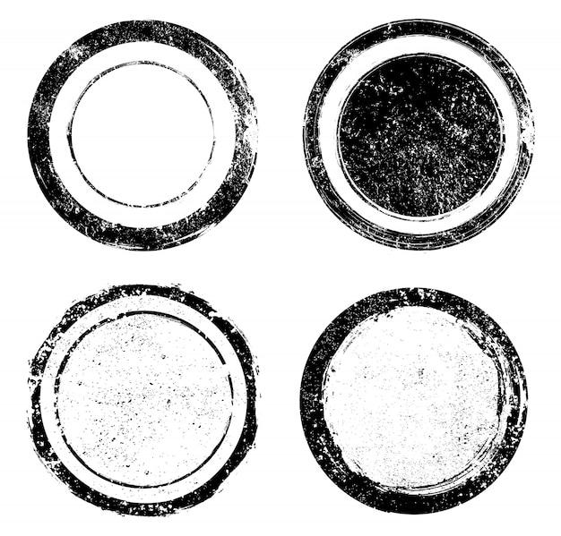 Grunge runden briefmarken