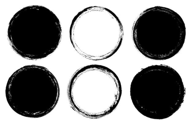 Grunge runden rahmen festgelegt