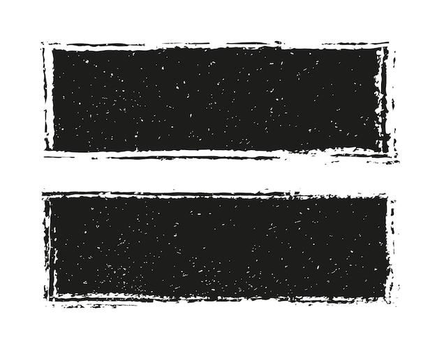 Grunge schwarze banner oder rahmen