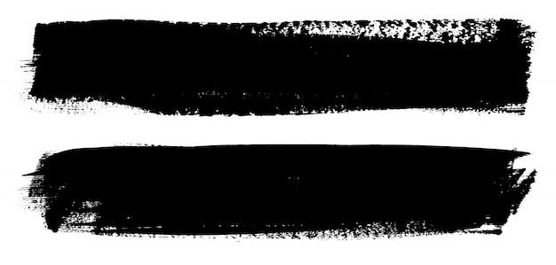 Grunge schwarze lackzeilen