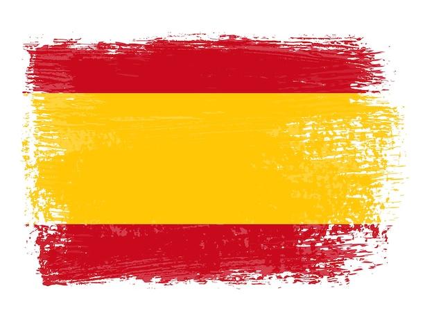 Grunge spanische flagge
