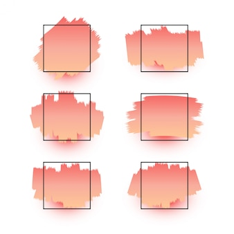 Grunge splate frames kollektion