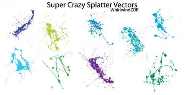Grunge splatter free vector