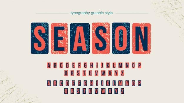 Grunge square bold großbuchstaben typografie