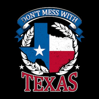 Grunge-stil ein texas map hintergrund
