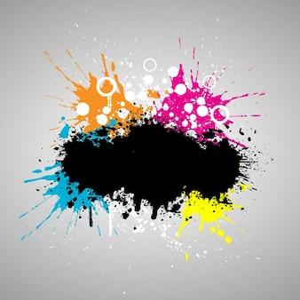 Grunge-stil farbe splat hintergrund