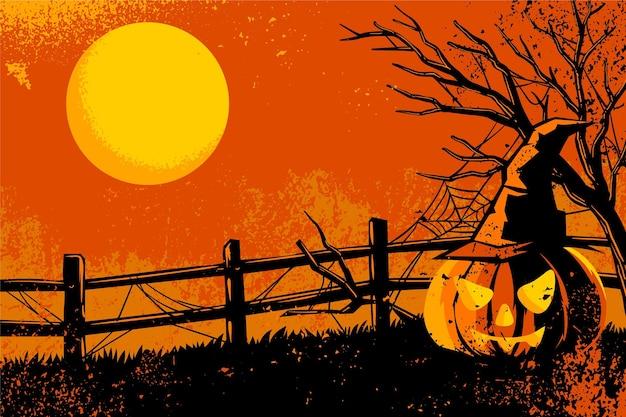 Grunge-stil halloween-hintergrund
