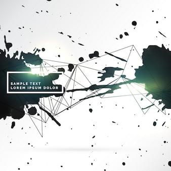 Grunge-stil schwarzer tinte splatter hintergrund design