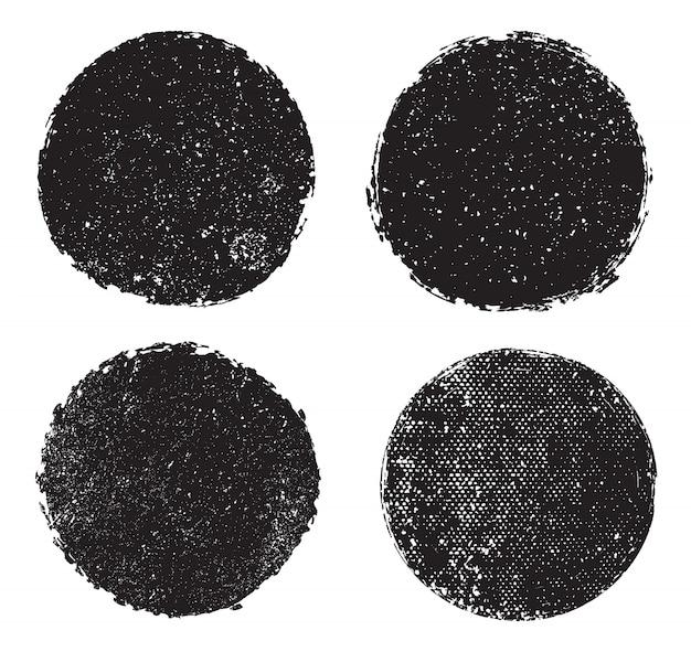 Grunge strukturierte runde briefmarken
