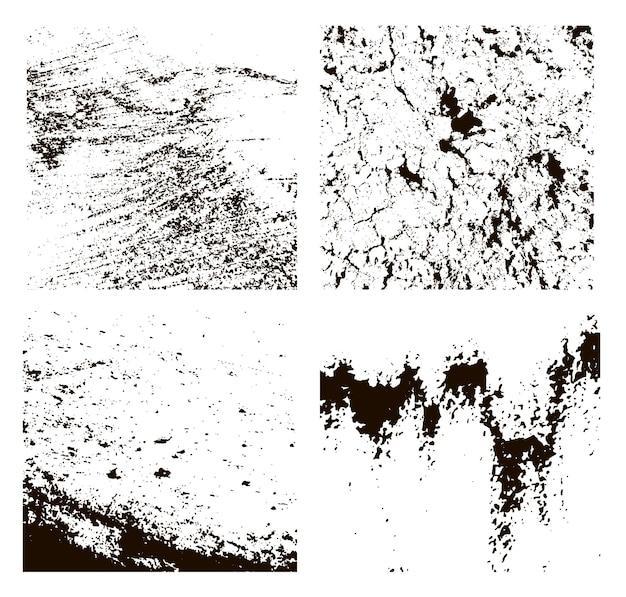 Grunge-texturen eingestellt. abstrakter hintergrund. vektor-illustration