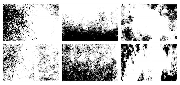 Grunge texturen festgelegt