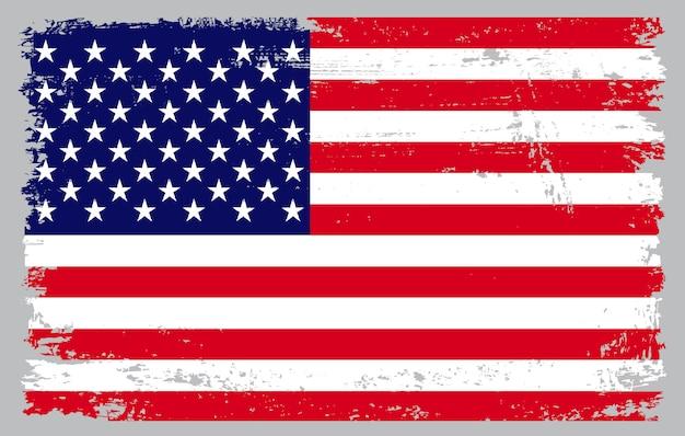 Grunge texturierte usa flagge