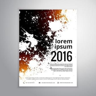 Grunge tinte splatter-broschüre plakat vorlage