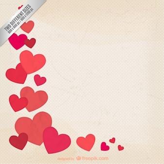Grunge valentine hintergrund