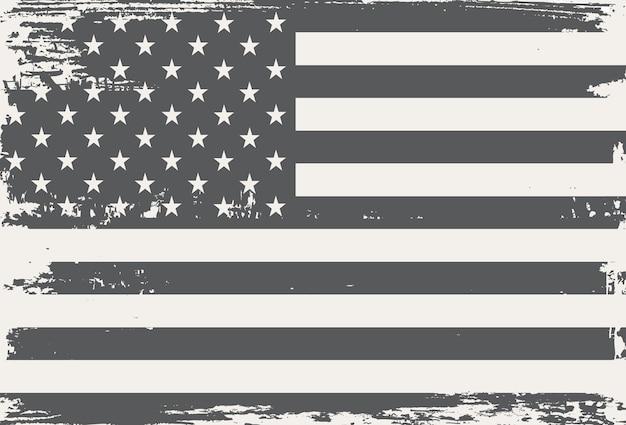 Grunge vintage amerikanische flagge