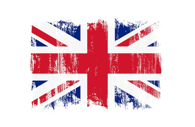 Grunge vintage flagge großbritanniens
