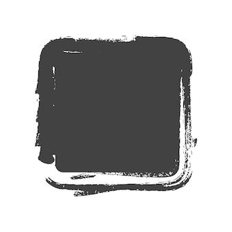 Grunge vintage gemalte rechteckformen. vektor-illustration.