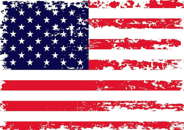 Grunge vintage usa flagge