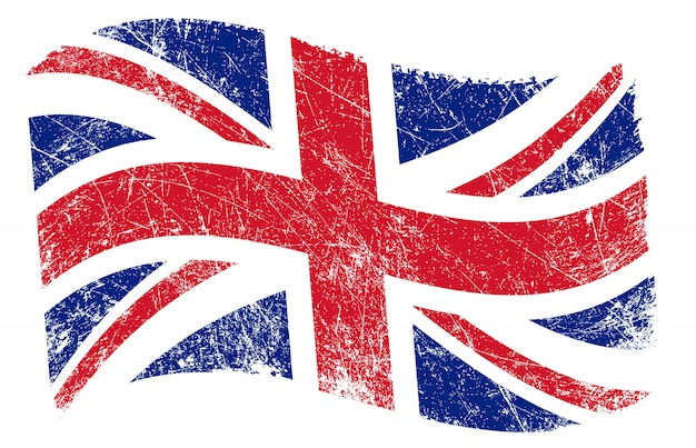 Grunge wellig uk flagge