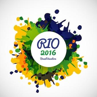 Grungy brasilien farben hintergrund