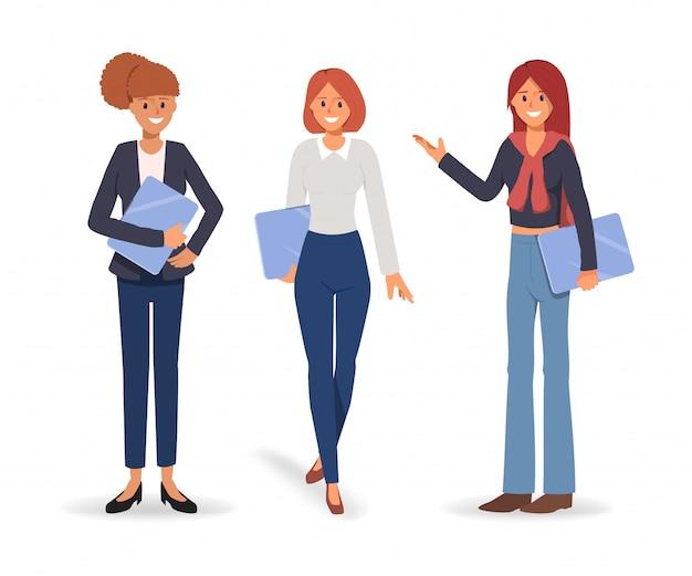 Gruppe der geschäftsfrau in teamarbeit