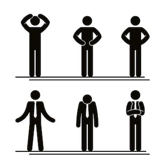 Gruppe des geschäftsleute teamwork-vektorillustrationsdesigns