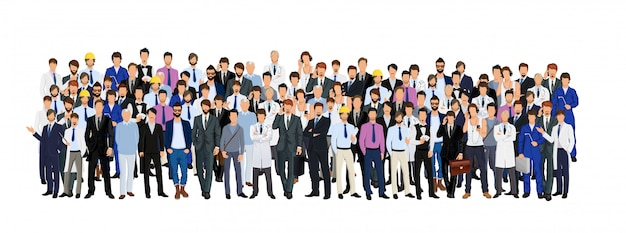 Gruppe des mannes