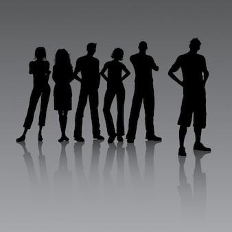 Gruppe junger menschen beiläufig