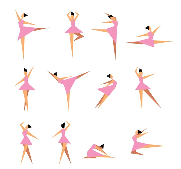 Gruppe moderne balletttänzer