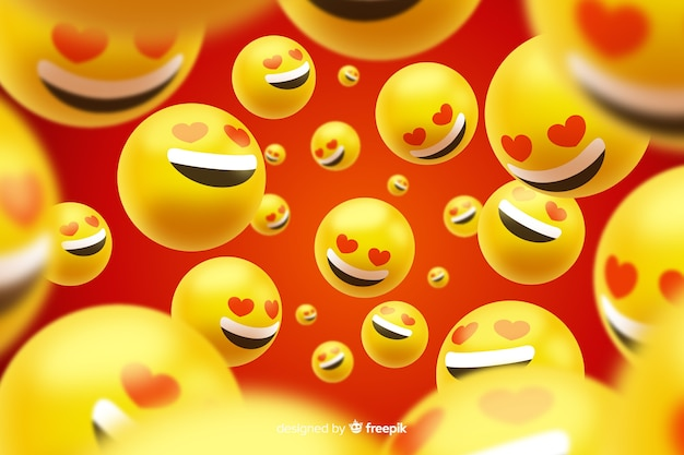 Gruppe realistische liebe emojis