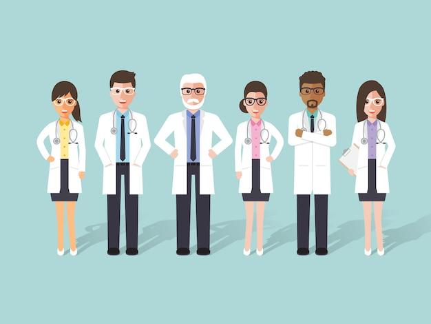Gruppe von ärzten, medizinisches personal.