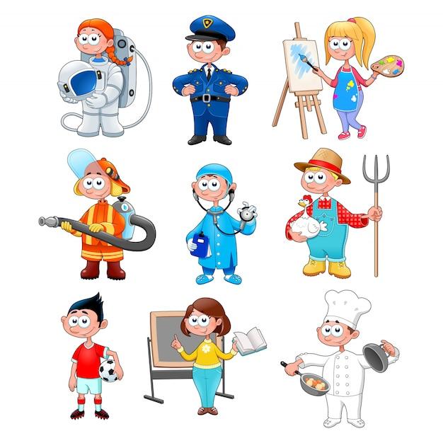Gruppe von arbeitern für kinder