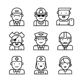 Gruppe von arbeitern