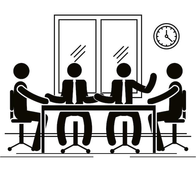 Gruppe von businessleuten im büro
