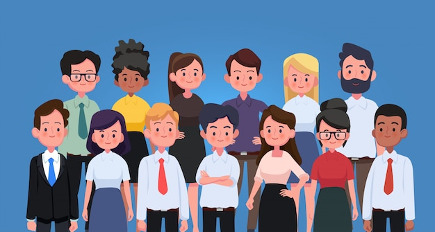 Gruppe von geschäftsleuten und arbeitern. business-team und teamwork-konzept.