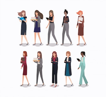 Gruppe von Geschäftsfrauen-Charakteren