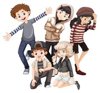Gruppe von glücklichen Jugendlichen