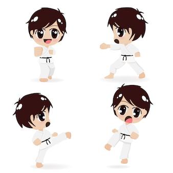 Gruppe von karatekindern