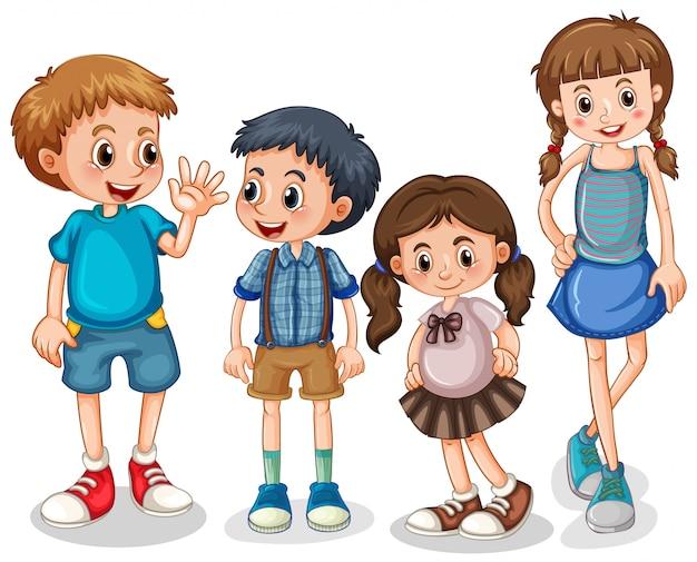 Gruppe von kleinen kindern