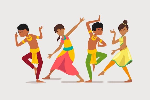 Gruppe von leuten, die bollywood tanzen