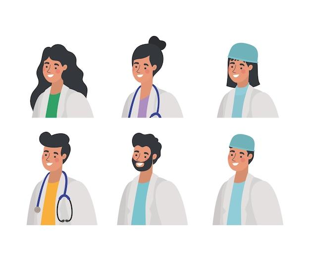 Gruppe von medizinischen