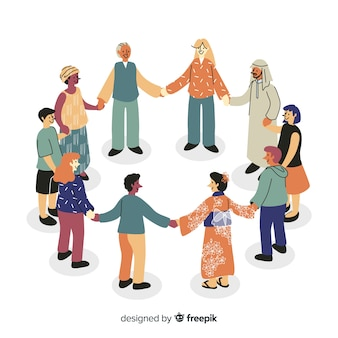 Gruppe von menschen aus verschiedenen rassen