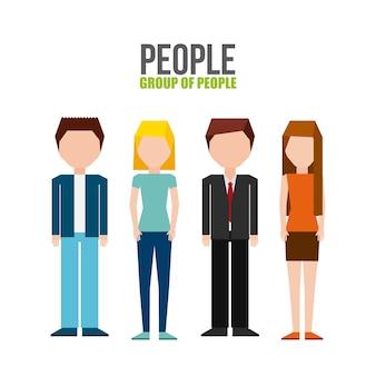 Gruppe von menschen design