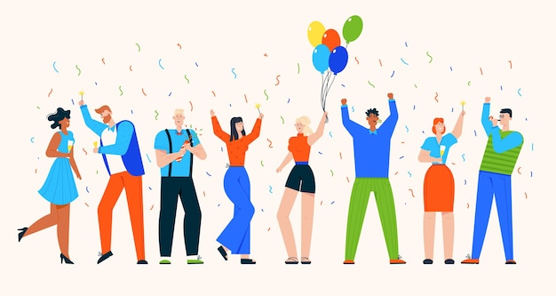 Gruppe von menschen feiern feiertag auf party